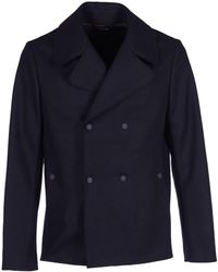 Dondup Coats Black - Blue