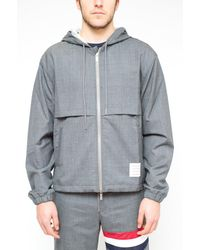 Thom Browne Thom Brown Stripe Detail Jacket - Multicolour