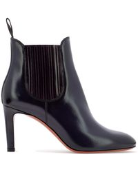 Santoni - Leather Ankle Boot With Elastic Bands - Lyst