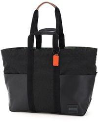 COACH Pacer Reversible Signature Tote Bag - Black