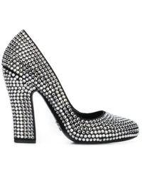 Prada Embellished Court Shoes - Black