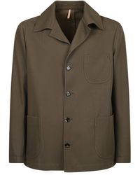 Dell'Oglio Wool And Cotton Jacket - Green
