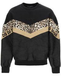Dolce & Gabbana Multi Pattern Sweatshirt - Black