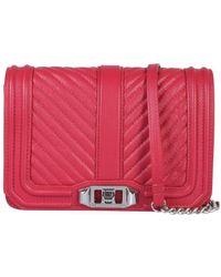 Rebecca Minkoff Love Quilted Shoulder Bag - Red