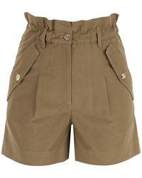 KENZO Cotton Shorts 34 Cotton - Green