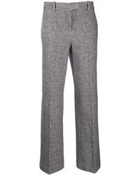 Circolo 1901 Pressed-crease Wide-leg Tailored Trousers - Grey