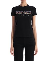 KENZO Sequined Logo T-shirt - Black