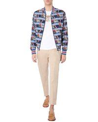 Dolce & Gabbana Nylon Bomber - Blue