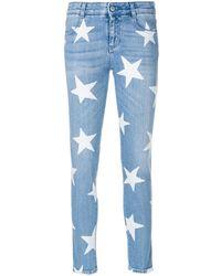 Stella McCartney Ankle Glazer Star Jeans - Blue