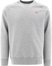 "Maison Kitsuné ""fox Head"" Sweatshirt - Grey"