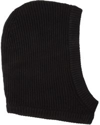 Rick Owens Knitted Hat Unica - Black