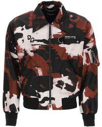 Dolce & Gabbana Camouflage Nylon Bomber Jacket M Technical - Black