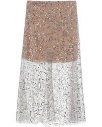 Self-Portrait Sequined Tulle Midi Skirt - Multicolour