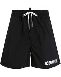 DSquared² - Icon Logo-print Drawstring Swim Shorts - Lyst