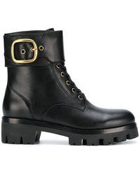 COACH Lucy Combat Boots - Black