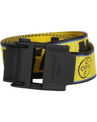 Off-White c/o Virgil Abloh Yellow Canvas Industrial Belt