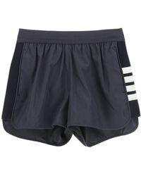 Thom Browne 4-bar Running Shorts - Blue
