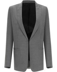 Totême Toteme Oversized Wool Blazer - Grey