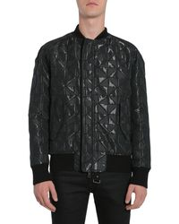 Tom Rebl Bomber Jacket With Intarsia - Black