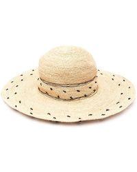 P.A.R.O.S.H. Woven Dot Sun Hat - Natural