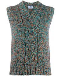 Prada Cable-knit Top - Multicolour