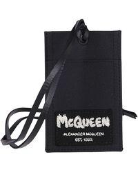 Alexander McQueen Black Canvas Cardholder