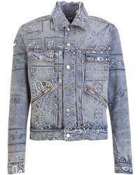 Amiri Bandana Print Trucker Jacket - Blue