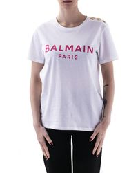 Balmain T-shirts And Polos - Purple