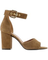 Via Roma 15 Suede Sandals - Brown
