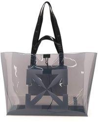 Off-White c/o Virgil Abloh Pvc Tote Bag With Logo - Grey