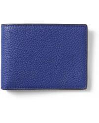 495d933e Italian Leather Billfold Wallet - Blue