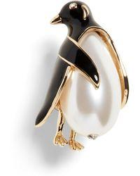 Banana Republic Penguin Brooch - Metallic