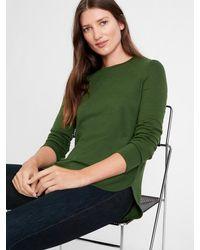 Banana Republic Luxespun Long-sleeve T-shirt - Green