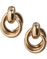 Banana Republic Small Doorknocker Earrings - Metallic