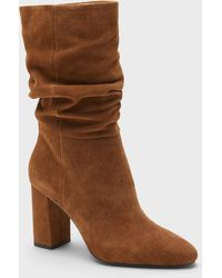 Banana Republic Midshaft Suede Slouchy Boot - Brown