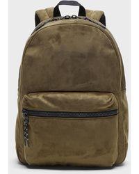 Banana Republic Vegan Suede Backpack - Green