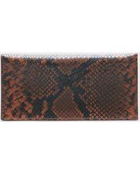 Banana Republic Snake Print Vegan Leather Wallet - Multicolor