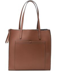 Banana Republic 12-hour Leather Large Tote - Brown