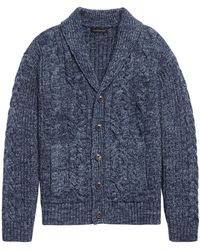 Banana Republic Heritage Cable-knit Cardigan Sweater - Blue
