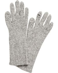 Banana Republic Ribbed Knit Texting Gloves - Blue