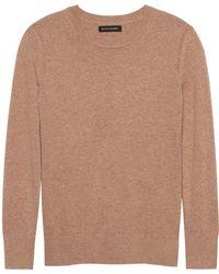 Banana Republic - Petite Italian Merino-blend Crew-neck Sweater - Lyst