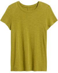 Banana Republic Slub Cotton-modal Crew-neck T-shirt - Green