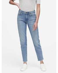 Banana Republic Petite High-rise Straight-fit Ankle Jean - Blue