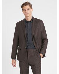 Banana Republic Slim Italian Sharkskin Suit Jacket - Multicolor