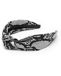 Banana Republic Snake Print Knot Headband - Multicolor