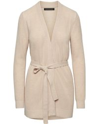 Banana Republic - Wool-cashmere Blend Ribbed Cardigan Sweater - Lyst