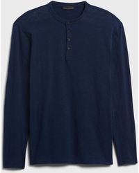 Banana Republic Indigo Henley T-shirt - Blue