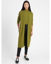 Banana Republic Birdseye Duster Cardigan Sweater - Green