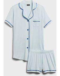 Cosabella Bella Pajama Short Set - Blue