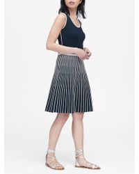 cdd6629ee7a Banana Republic - Petite Stripe Knit Fit-and-flare Dress - Lyst